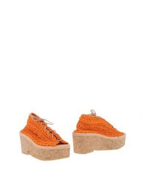 Полусапоги и высокие ботинки ARIELLE DE PINTO. Цвет: оранжевый
