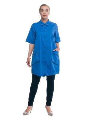 Рубашка OLSI. Цвет: синий