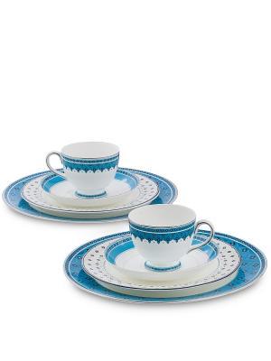 Чайный набор на 2 перс. Византия (Band-E-Rumi Pavone) Pavone. Цвет: белый