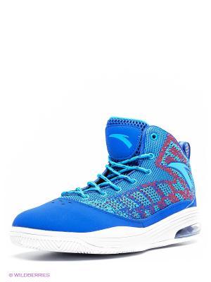Кроссовки ANTA. Цвет: синий, фиолетовый