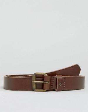 Fjallraven Коричневый кожаный ремень 2,5 см Singi. Цвет: коричневый