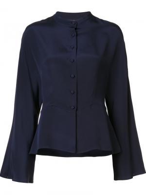 Рубашка с расклешенными рукавами Martin Grant. Цвет: синий