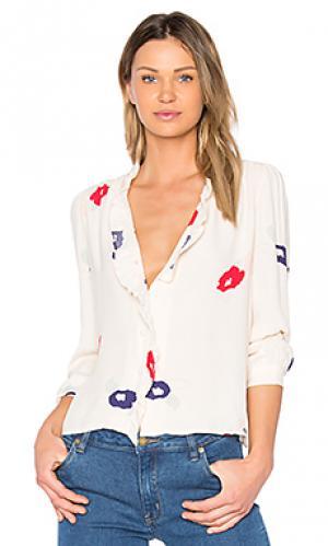 Блузка lily ROLLAS ROLLA'S. Цвет: белый