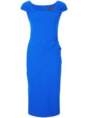 Платье с запахом Greta Constantine. Цвет: синий