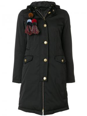 Пальто с кисточками Peuterey. Цвет: чёрный