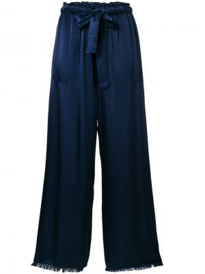 Атласные брюки Raquel Allegra. Цвет: синий