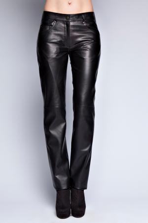 Кожаные брюки Giorgio. Цвет: черный