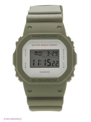 Часы G-Shock DW-5600M-3E CASIO. Цвет: оливковый