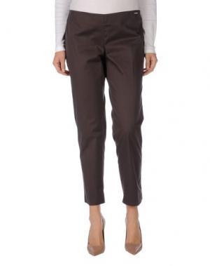 Повседневные брюки REBEL QUEEN. Цвет: темно-коричневый