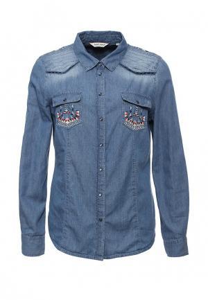 Рубашка джинсовая Naf. Цвет: синий