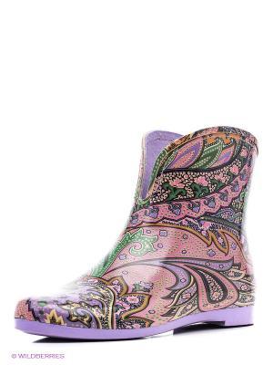 Резиновые сапоги KEDDO. Цвет: фиолетовый, розовый