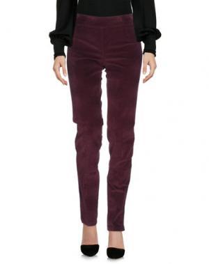 Повседневные брюки CLUB VOLTAIRE. Цвет: красно-коричневый