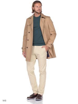 Пальто United Colors of Benetton. Цвет: бежевый