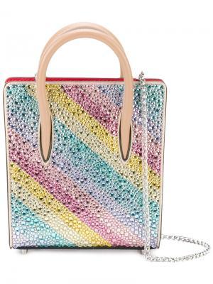 Декорированная кристаллами нано сумка Christian Louboutin. Цвет: многоцветный