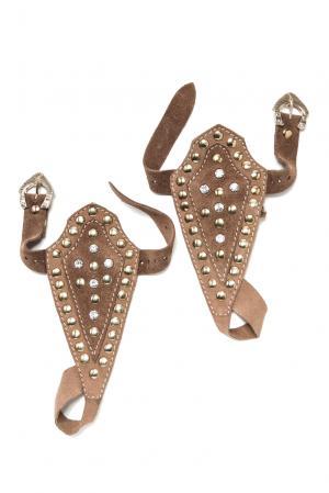 Комплект слейв-браслетов SF-126198 El Vaquero. Цвет: коричневый