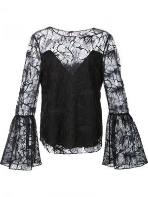 Блузка Jojo Zac Posen. Цвет: чёрный