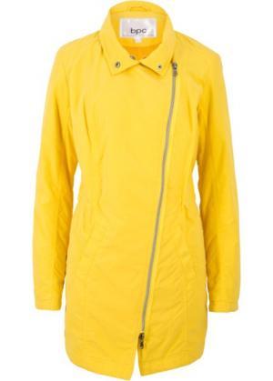 Куртка-парка для межсезонья на легкой подкладке (желтый) bonprix. Цвет: желтый