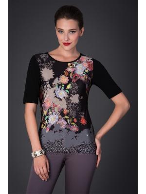 Блузка Арт-Деко. Цвет: черный, серый