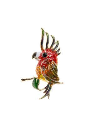 Брошь Bijoux Land. Цвет: золотистый, зеленый, красный
