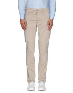 Повседневные брюки DNM-BRAND. Цвет: бежевый