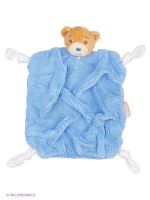 Мишка комфортер индиго, коллекция Плюм Kaloo. Цвет: синий