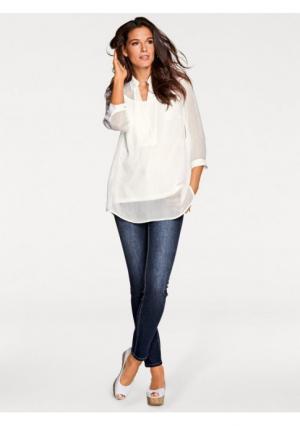 Комплект, 2 части: блузка + топ PATRIZIA DINI. Цвет: белый, зеленый