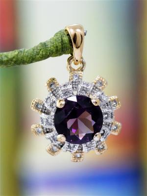 Кулон Vel Vett. Цвет: фиолетовый,прозрачный