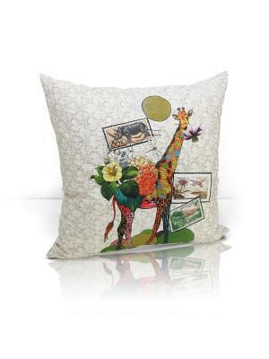 Декоративная подушка Giraffe Kauffort. Цвет: зеленый, желтый, кремовый