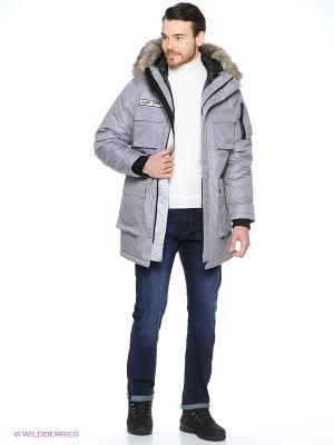 Куртка ZIQ&YONI. Цвет: серый