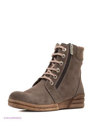 Ботинки MILANA. Цвет: серо-коричневый
