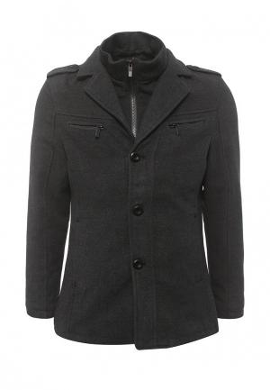 Пальто утепленное Justboy. Цвет: серый