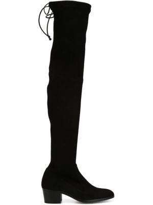 Сапоги-ботфорты Jean-Michel Cazabat. Цвет: чёрный