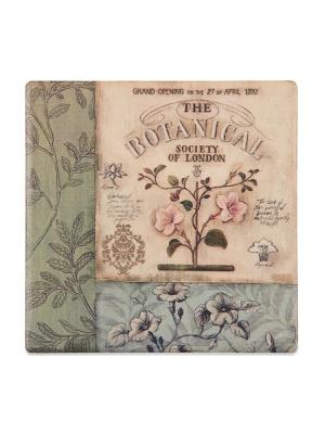 Подставка под горячее Ботаника DAVANA. Цвет: светло-зеленый, голубой, розовый