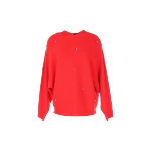 Пуловер с круглым вырезом из тонкого трикотажа RENE DERHY. Цвет: красный