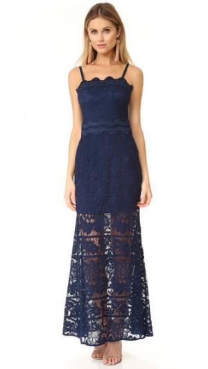 Макси-платье Andrea ONE by aijek. Цвет: темно-синий