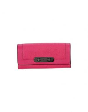 Бумажник COACH. Цвет: пурпурный