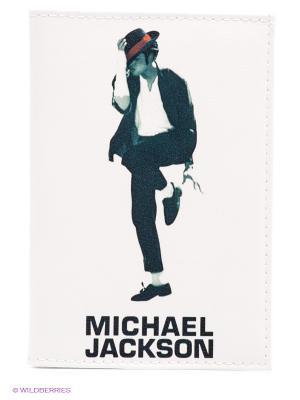 Обложка для автодокументов Майкл Джексон Mitya Veselkov. Цвет: белый, черный