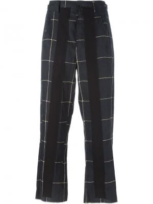 Укороченные брюки в клетку Damir Doma. Цвет: чёрный