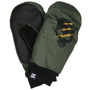 Варежки сноубордические DC Flag Mitt Four Leaf Clover Shoes. Цвет: зеленый