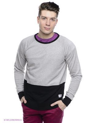Джемпер CLWR. Цвет: серый меланж, черный