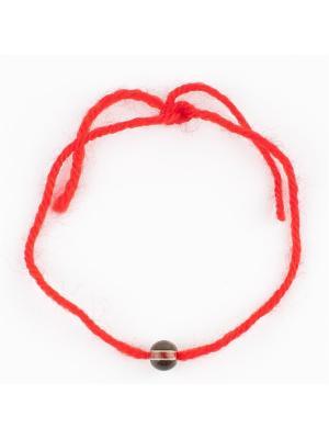 Браслет Красная нить раухтопаз Колечки. Цвет: коричневый