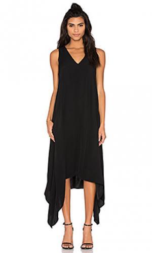 Платье с асимметричным вырезом centaur Viktoria + Woods. Цвет: черный