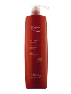 Baco Шампунь для окрашенных волос с гидролизатами шелка и кератином Colorpro Shampoo 1000мл. Kaaral. Цвет: темно-красный