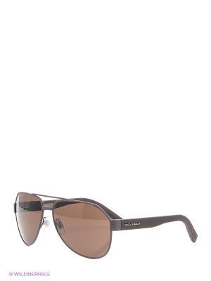 Очки солнцезащитные DOLCE & GABBANA. Цвет: бронзовый, серый