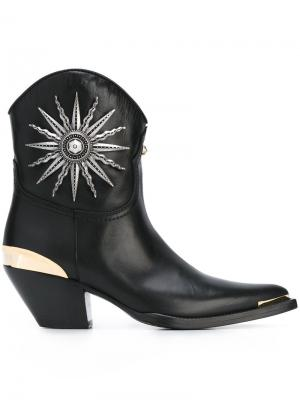 Ботинки в стиле вестерн Fausto Puglisi. Цвет: чёрный