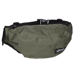 Сумка поясная  Minibag haki Anteater. Цвет: зеленый