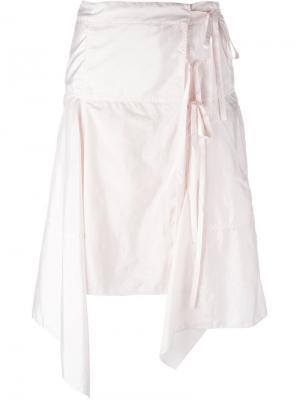 Асимметричная юбка с запахом Isabel Marant. Цвет: розовый и фиолетовый