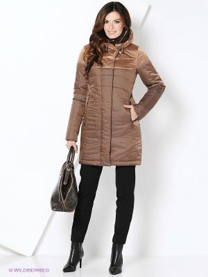 Пальто D`imma. Цвет: бронзовый