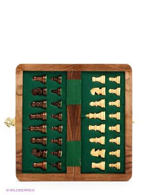 Шахматы на магните Шатрандж средний Экспедиция. Цвет: коричневый