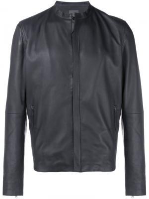 Байкерская куртка Lot78. Цвет: чёрный